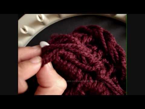 Como terminar gorro-boina en telar circular