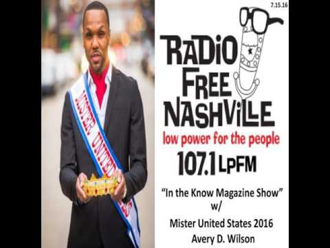 "Mister United States 2016 on Nashville, TN Radio Show ""In the Know Magazine"""