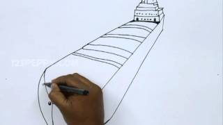 How to Draw a Cargo Ship