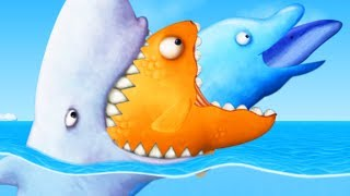 GIANT SHARK EATS GIANT GOLDFISH AND DOLPHIN - Tasty Blue Part 6 | Pungence