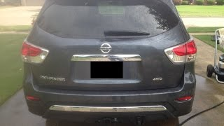 Install OEM Trailer Hitch on a Nissan Pathfinder 2013, 2014,  7 pin Harness and Bumper Cove