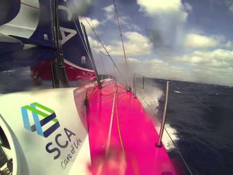Onboard VO65 Team SCA
