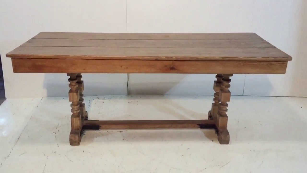 Antique Pine Refectory Table For Sale   Pinefinders Old Pine Furniture  Warehouse