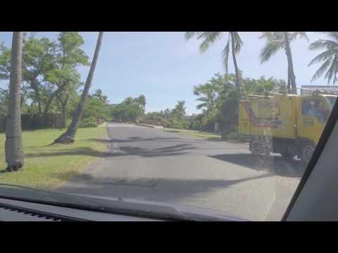 Driving along Denarau Island - Nadi - Fiji Islands.