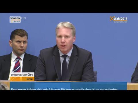 Pressekonferenz der AfD zu den Auswirkungen der Landtagswahlen auf die Bundespolitik am 08.05.17