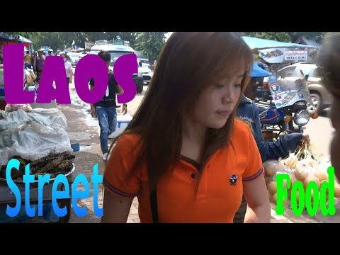 LAOS, VIENTIANE, 2016, LAOS FOOD, LOCAL MARKET VIENTIANE,  FOOD IN LAOS