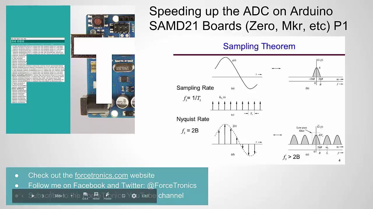 Speeding up the ADC on Arduino SAMD21 Boards (Zero, Mkr, etc) P1