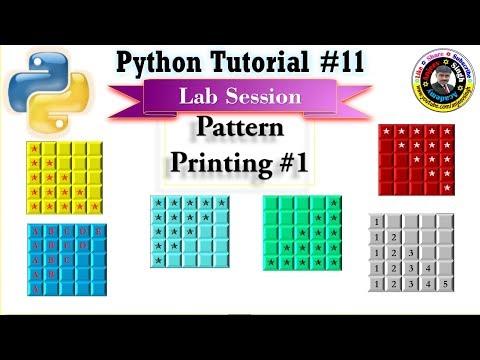 Pattern Printing #1   Python Tutorial #11   Loop   Nested Loop thumbnail
