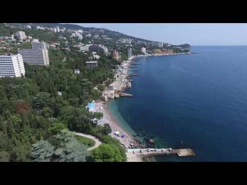 Крым (часть 4). Ялта (Мисхор). Полёт  квадрокоптера над ЮБК. Мисхорский парк и пляжи.