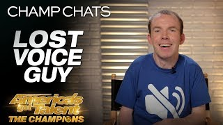 Lost Voice Guy Recaps His Performance On AGT: The Champions - America's Got Talent: The Champions