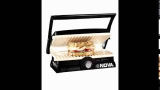 Nova NGS 2455 1500-Watt 3-in-1 Grill Sandwich Maker (Black/Grey)