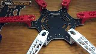 Construir un drone dji F550 hexacopter. Montaje paso a paso. 2/6