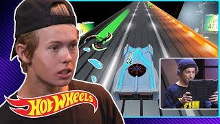 Making Tanner Fox Cry in the Augmoto Challenge | Gaming Garage | Hot Wheels