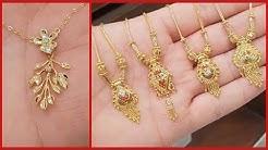 Beautiful Gold Pendant Designs For Women | Latest Pendant Designs In Gold