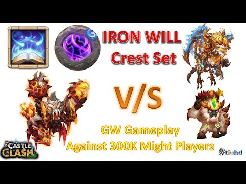 Atlanticore With IRON WILL Crest Against 300K Might Players - Castle Clash
