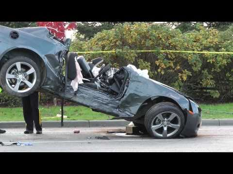 High Sd Car Crash Camaro Struck Hydro Pole 2 Dead