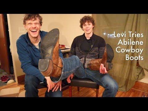 levi-tries-abilene-cowboy-boots