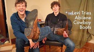 Levi Tries Abilene Cowboy Boots Video