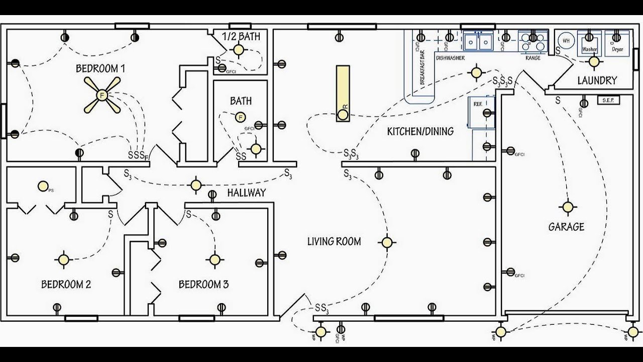 [SCHEMATICS_4ER]  AutoCAD Electrical - Lighting Layout Plan - YouTube | Electrical Plan Layout |  | YouTube