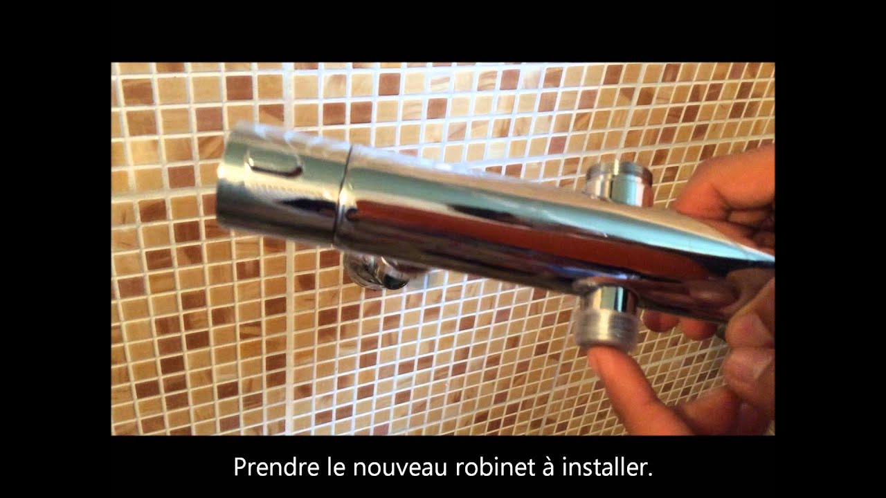 Comment poser un robinet thermostatique et un combinet - Demonter mitigeur thermostatique douche ...