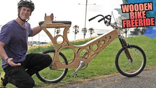 MTB FREERIDE ON A WOODEN BIKE - HOW LONG WILL IT LAST?