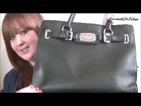 michael kors black silver purse