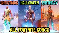 all fortnite theme songs dÿ part 2 season 1 christmas halloween birthday - season 1 fortnite theme song