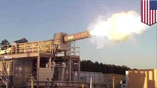 Railgun test firing: US Navy released a cool video of a functional railgun - TomoNews