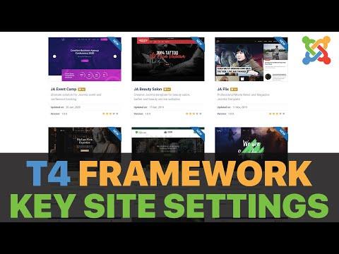T4 Framework Important Site Settings