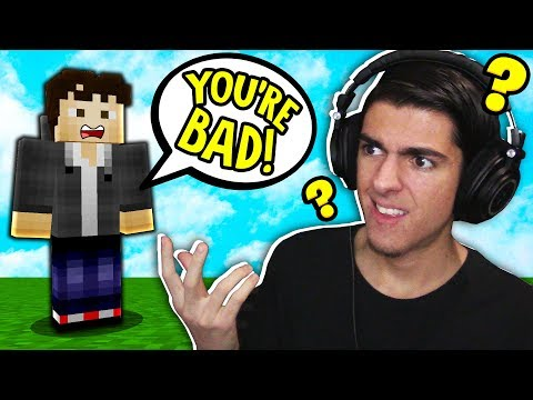 So I invited a HATER to play Minecraft Skywars with me...