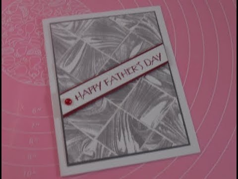 Stampin' Up! Marbled Tiles Father's Day Card
