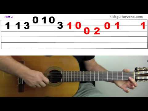Guitar Lesson 5C 'Yankee Doodle' on 4 Strings