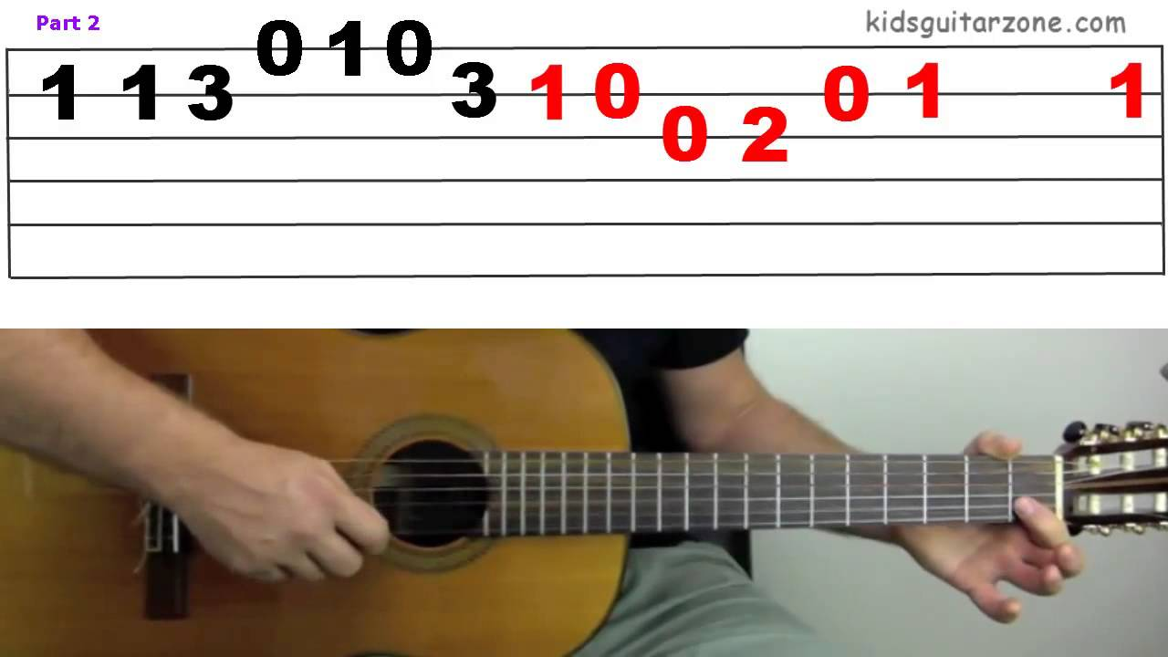 Guitar Lesson 5c Yankee Doodle On 4 Strings Youtube