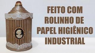 Reutilizando Rolo de Papel Higiênico Industrial