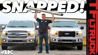 We Broke a Tuned Ford F-150 Drag Racing while Towing a Camper on a Dragstrip!
