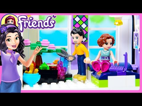 CUSTOM Parent's Room for Emma's House Lego Friends Renovation Build DIY Craft   Kids Toys