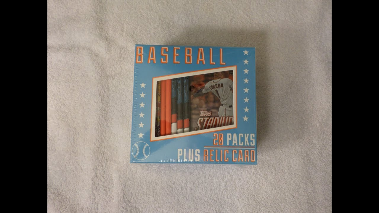Fairfield Baseball Cards 20 Pack Box Plus Relic Card - YouTube