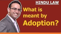 FAMILY LAW - HINDU LAW #23 || Meaning of Adoption || ADOPTION (Part-1)