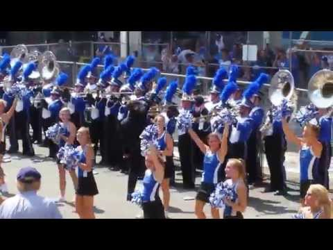"2014 Wildcat Marching Band Rally in the Alley ""Z"" and ""On On U of K"" UK WMB"