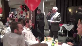 Adger Brown comedian kicks off the auction at Welling United