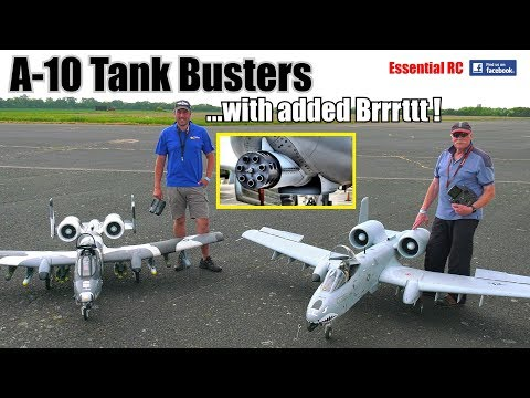A10 TANK BUSTER RC JETS in ACTION FIRING DREADED GAU8 Gatling GUNCANNON with added Brrrttt !