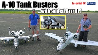 A-10 TANK BUSTER RC JETS in ACTION FIRING DREADED GAU-8 Gatling GUN/CANNON with added Brrrttt !