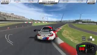 RaceRoom Racing Experience - Keyboard Gameplay (with keyboard overlay)