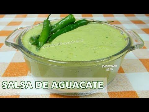 Salsa taquera de aguacate / Salsa verde para tacos