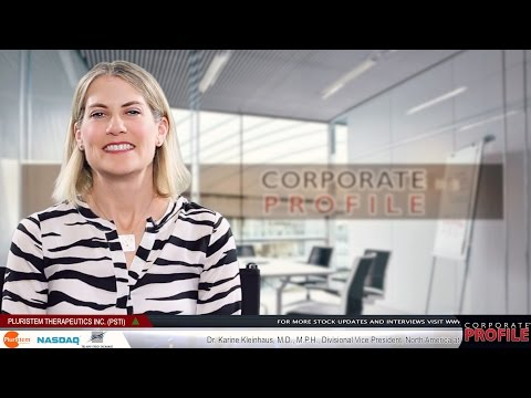 Pluristem Corporate Profile - Interview with Dr. Karine Kleinhaus