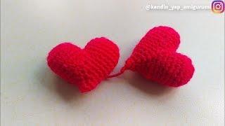 How To crochet a Heart Amigurumi | Amigurumi Kalp Yapılışı | Coração crochet