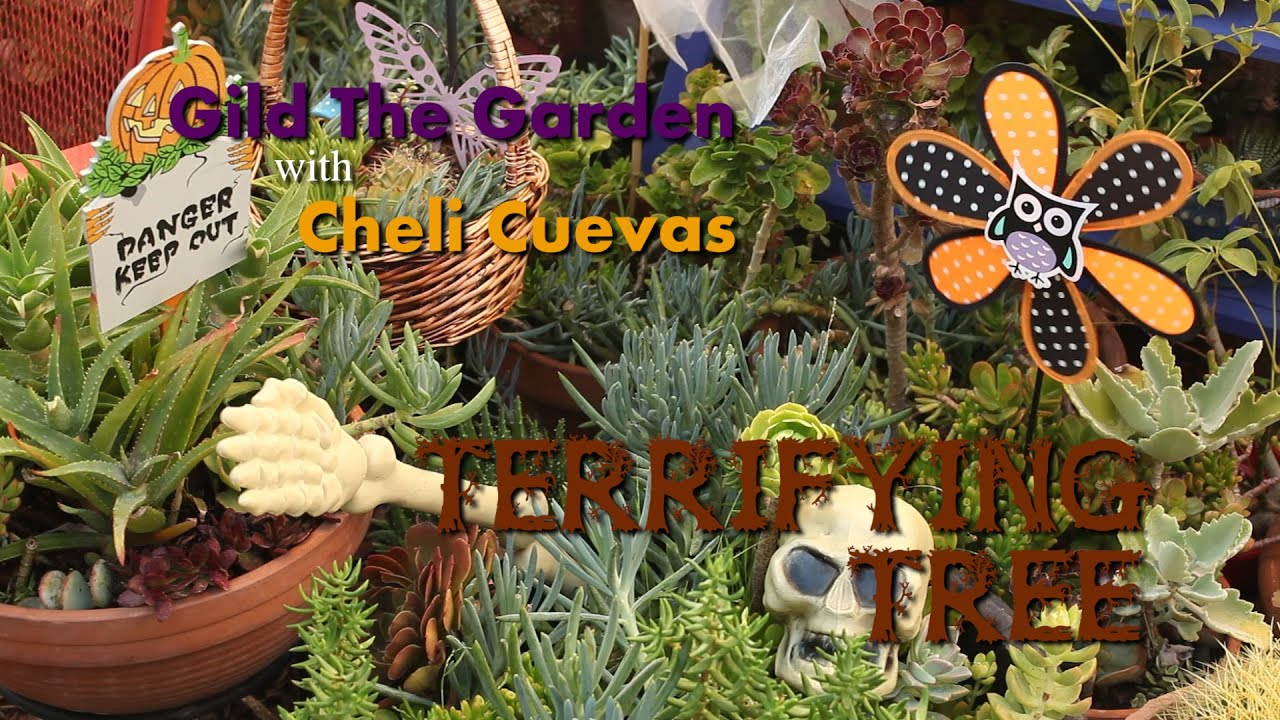 Dollar Tree Haul ~ Halloween Tree Fairy Garden featuring Tombstone ...
