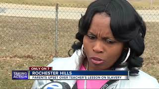 Parent outraged after alleged racist joke during slavery lesson at Rochester Hills school