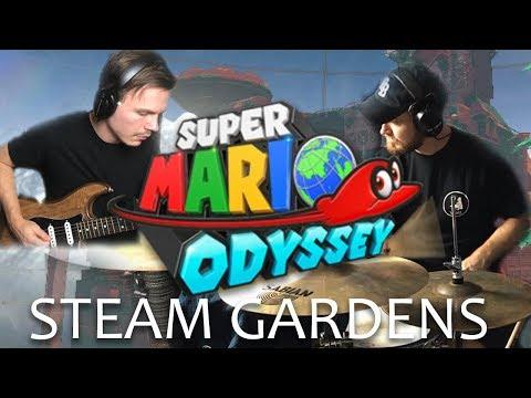 Super Mario Odyssey Guitar & Drum Cover - Steam Gardens | The Brotons