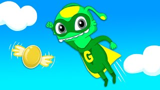 Groovy The Martian | Catch the golden egg as a Superhero baby! Outdoor fun for kids!
